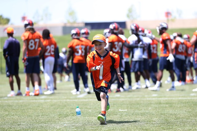 Bryce Caldwell, the son of Maj. Jeremy Caldwell, enjoys his wish trip to the Denver Broncos headquarters in 2017. He died later that year from a brain tumor called diffuse intrinsic pontine glioma, or DIPG. The Caldwell family raised more than $42,000 for the non-profit in memory of Bryce. The amount is enough to grant five wishes from children with life-threatening illnesses.