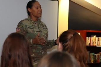 Maryland National Guard leader speaks to youth at American Corners event