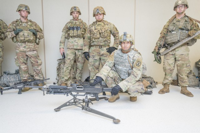 Several key organizations recently came together to advance exoskeleton technology for the Soldier during an intensive three-day Operations and Maneuver and Technology Interchange meeting. Soldier feedback played a key role in the event. Soldiers from the 10th Mountain Division (pictured here) show some of the equipment that they use during everyday tasks and learn how an exoskeleton can help.