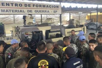 West Virginia mechanics enhance maintenance capabilities for Peruvian army
