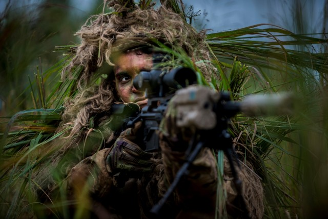 Snipers help test new ghillie suit