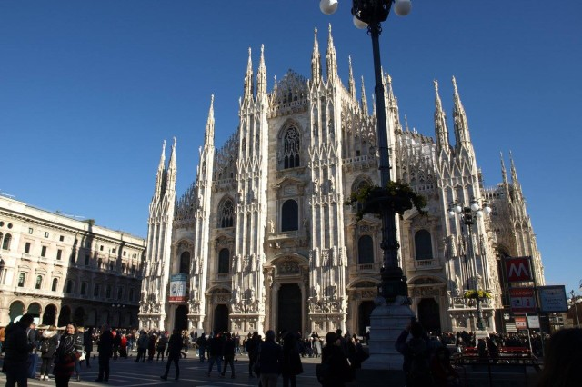 The Milan Cathedral, dedicated to St. Mary of the Nativity, is the world's fourth-largest church building.