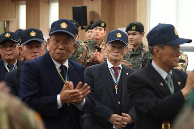 Korean War Veterans were honored at the 16th Chilgok Korean-American Friendship Day event Dec. 6.