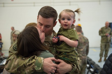 Idaho National Guard Soldiers mobilized from Boise to Fort Hood, Texas, for training and will deploy to Afghanistan this spring in support of Operation Freedom's Sentinel. During the 12-month deployment the unit will provide medical evacuation support.