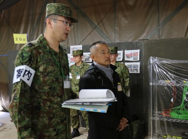 Japan Ground Self Defense Force official visits Yama Sakura 75