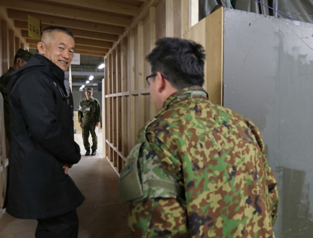 Japan Ground Self Defense Force official visits Yama Sakura 75