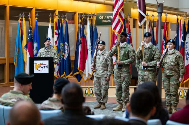Lt. Col. Michael Dengler takes command of Madigan Army Medical Center's Warrior Transition Battalion on Dec. 7 at Joint Base Lewis-McChord, Wash.