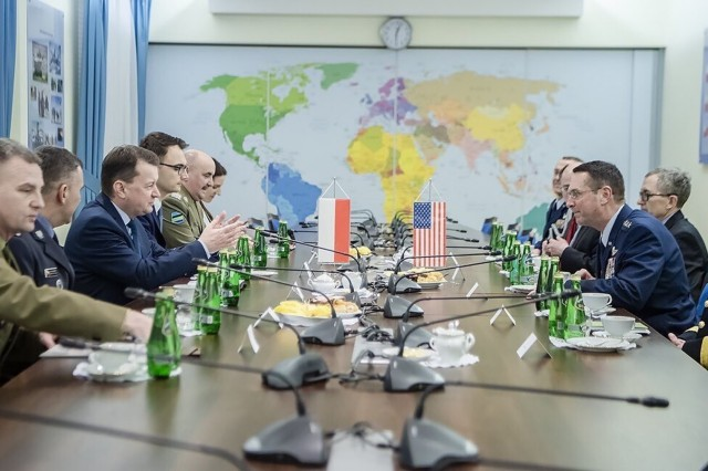 Air Force Gen. Joseph Lengyel, chief, National Guard Bureau, meets with Polish Armed Forces civilian and military leaders, Warsaw, Poland, Dec. 14, 2018. (Courtesy Asset/ Polish Armed Forces)
