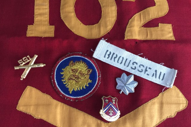Military items found in a box belonging to Lt. Col. Louie Brousseau.