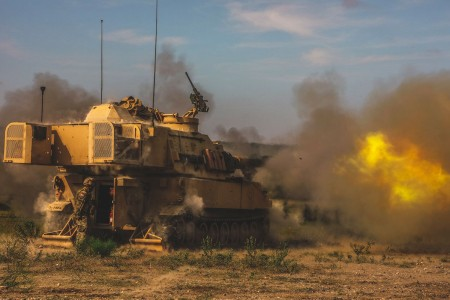 3rd Battalion, 16th Field Artillery Regiment rolled into Cold Springs Direct Fire Range, Aug. 16, 2018, to wrap up artillery gunnery tables.