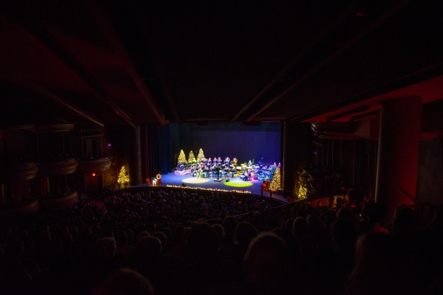 COLUMBUS, Ga. (Dec. 17, 2018) - The Maneuver Center of Excellence Band from Fort Benning, Georgia, played a concert of classic and modern holiday music Dec. 15 at the RiverCenter for the Performing Arts in downtown Columbus, Georgia. (U.S. Army photo by Patrick Albright, Maneuver Center of Excellence, Fort Benning Public Affairs)