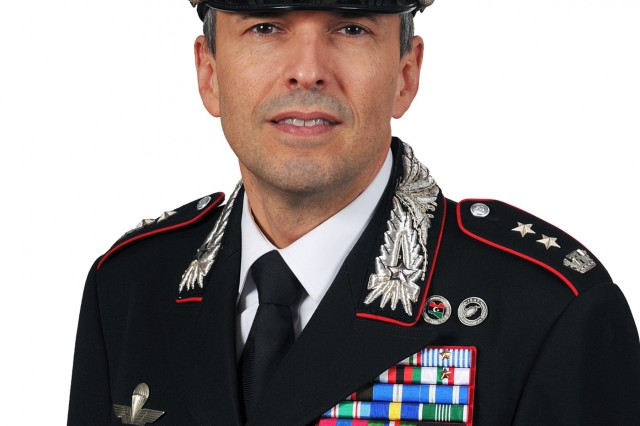 Italian Carabinieri (military police) Lt. Col.  Walter Rossaro took command of USAG Italy's Carabinieri SETAF group headquartered here at Caserma Ederle, Nov. 21. (U.S. Army Photo by 7th Army Training Command Vicenza)