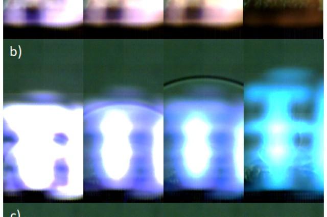 Schlieren images show shockwaves.