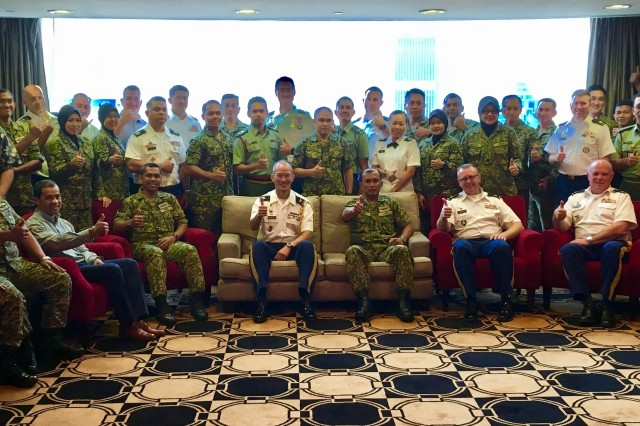 U.S. Army and Malaysian Army group photo during the final planning conference at the Pacific Regency hotel, Kuala Lumpar, Malaysia on Dec. 6, 2018.