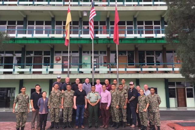Washington National Guard and Malaysian Army Group Photo at Buloh Camp, Malaysia on Dec. 5, 2018.