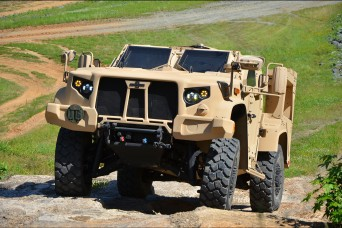 First Joint Light Tactical Vehicles rolling to the field
