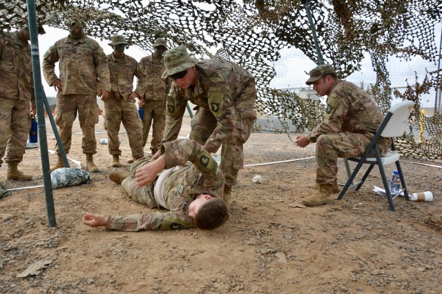 East Africa Response Force train for Expert Infantryman Badge while deployed