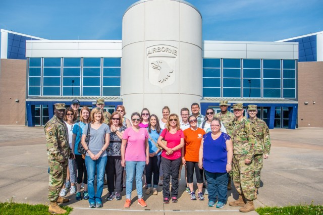 The staff office of United States Attorney for the Middle District of Tennessee Donald Q. Cochran visited Fort Campbell on June 6. The base opened its doors to the staff office of Mr. Cochran to see a glimpse of what it's like to be a Soldier of the 101st Airborne Division.