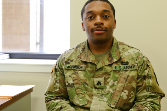 Sgt. Alonzo Johnson a religious affairs specialist assigned to Headquarters and Headquarters Battalion, 101st Airborne Division and Atlanta, Ga. native.