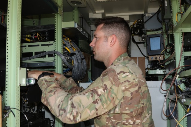 Sgt. Tyler Presley, an air defense battle management systems operator assigned to Headquarters and Headquarters Battalion, G-3 Air Missile Defense Section, 101st Airborne Division and Indianapolis, In. native