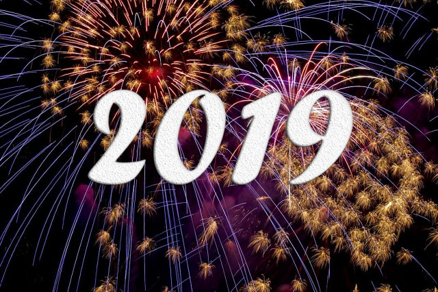 Welcome to 2019! Now get busy working on your resolutions. Time's a waistin' ...