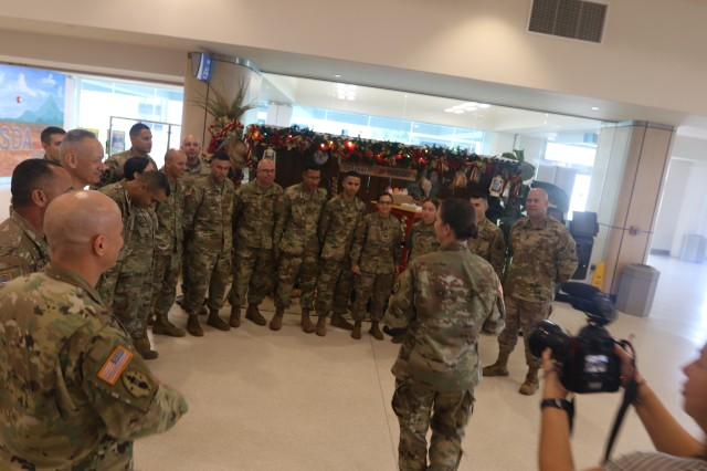 Approximately fifty Soldiers from the 166th Regional Support Group (RSG), U.S. Army Reserve-Puerto Rico, departed from the Luis Muñoz Marin International Airport, Jan 1, with Afghanistan as final destination.