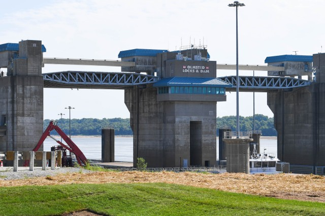 The $3 billion state-of-the-art facility at Olmsted will help process barges in a drastically faster amount of time than the old locks 52 and 53, which are now closed.