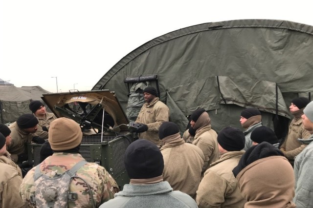 Alongside the main mission of establishing the critical corridor, Soldiers from B Co., 121st CSH were also trained on the fundamentals of setting up a CSH during a December 2018 training event.