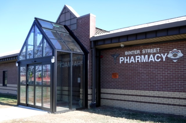 A new outer vestibule was added to the front of Bitner Street Pharmacy