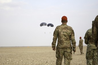 Successful drop: Soldiers test low-cost parachute system