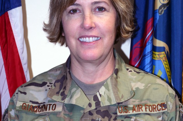 New York Air National Guard Command Chief Master Sgt. Amy Giaquinto is the senior enlisted leader for the 16,000 men and women of the New York Army and Air National Guard.