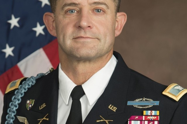 Col. William Ostlund in his final assignment as the director of the Department of Military Instruction at USMA.