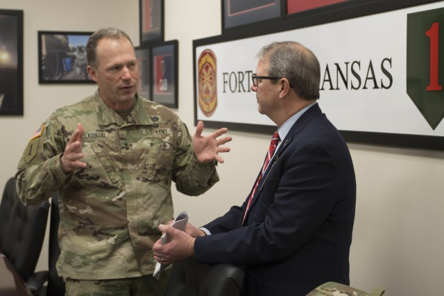 KU chancellor: Strength, depth, competency of Fort Riley, its Soldiers 'truly remarkable'
