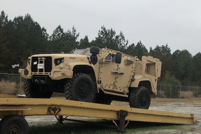 The first Joint Light Tactical Vehicles (JLTVs) arrive at Fort Stewart, GA where they will be fielded by the 1st Armored Brigade Combat Team, 3rd Infantry Division. The new trucks represent a significant modernization success for the Army and Marine Corps, with the program on track to replace many venerable High Mobility Multipurpose Wheeled Vehicles (HMMWV).
