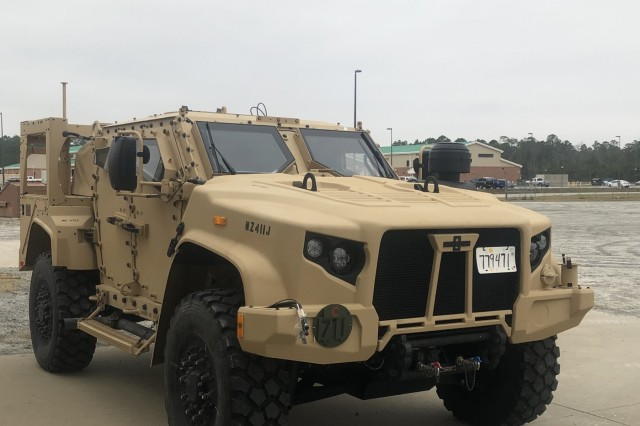 The first Joint Light Tactical Vehicles (JLTVs) arrive at Fort Stewart, GA., where they will be fielded by the 1st Armored Brigade Combat Team, 3rd Infantry Division. The new trucks represent a significant modernization success for the Army and Marine Corps, with the program on track to replace many venerable High Mobility Multipurpose Wheeled Vehicles (HMMWV).
