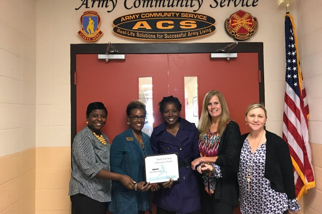Above are last year's winners in the 'yoga participation' category of the Watch Your Steps competition, a Fort Jackson walk and wellness initiative to promote health in the new year. Pictured from left are Angela Crosland, Marilynn Bailey, Pam Long, Kimberly Bottema and Sherry Major.
