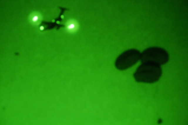 Geronimo paratroopers jump in the dark
