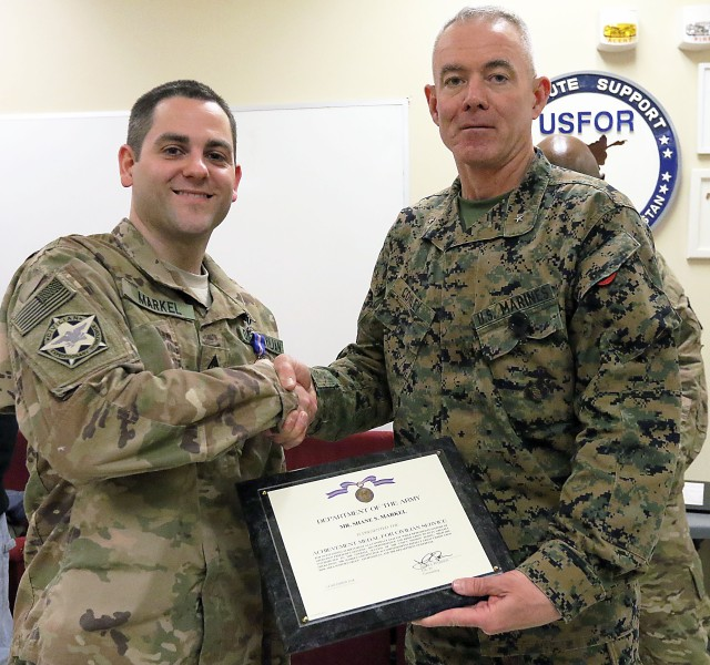 ASG-A employee honored for service in Afghanistan