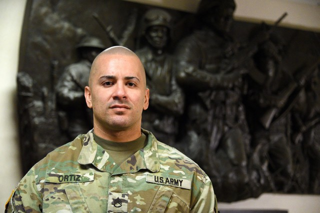 U.S. Army Staff Sgt. Carlos Ortiz serves as the senior driver to the commanding general, U.S. Army Space and Missile Defense Command/Army Forces Strategic Command. Ortiz is the command's Workforce Wednesday featured Soldier for Jan. 16.