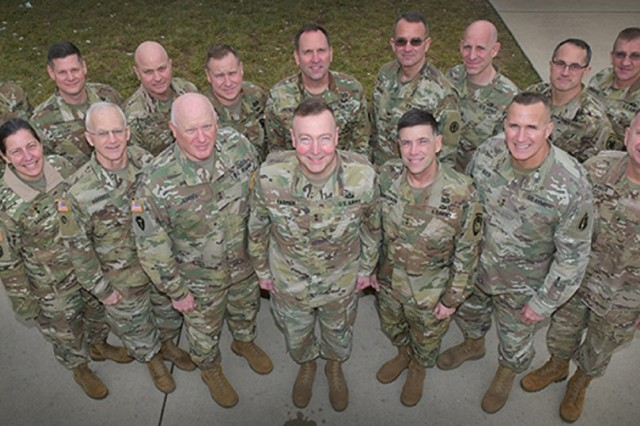 Senior active duty, Reserve and National Guard commanders and logisticians gathered for a Task Force Reserve Component Summit hosted by the Military Surface Deployment and Distribution Command (SDDC) at Scott AFB, Ill. Jan 17.