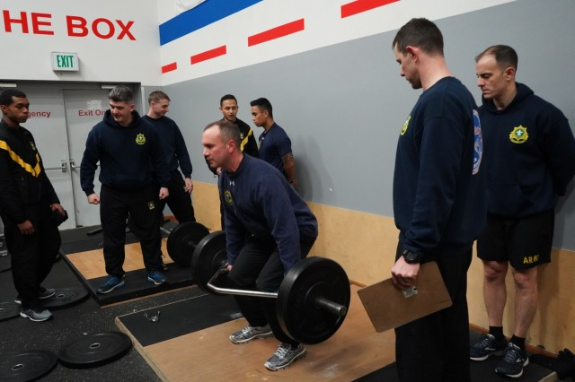 2d Cavalry Regiment Soldiers performed the three-repetition maximum deadlift event during a two-day leader professional development training to cover the Army Combat Fitness Test in Vilseck, Germany, Jan. 16-17, 2019. Soldiers can stay up to date on the ACFT by viewing the Field Manual 7-22, the ACFT website and the 2CR Facebook page.