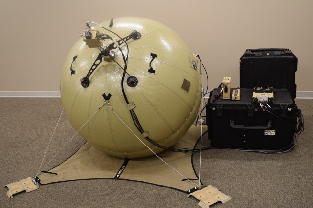 The Inflatable Satellite Antenna (ISA) is an improvement to the Combat Service Support Very Small Aperture Terminal (CSS VSAT) that makes the system more lightweight, powerful, and expeditionary. Photo courtesy GATR Technologies.