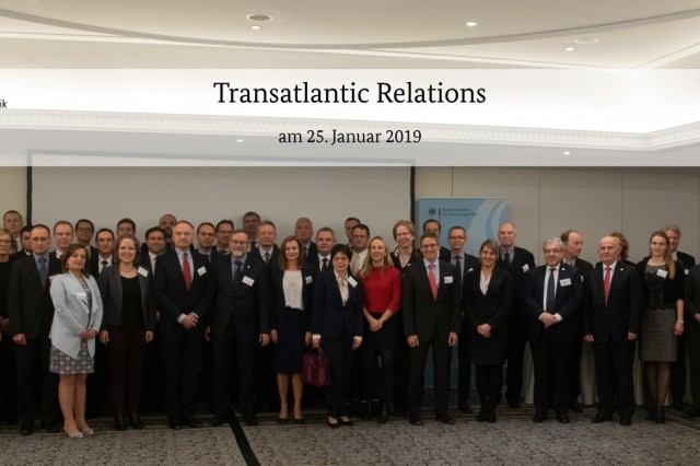 "BERLIN, Germany (Jan. 25, 2019) More than 60 officials and experts from 20 countries from all over Europe and North America attended the George C. Marshall European Center for Security Studies and Bundesakademie für Sicherheitspolitik (Federal Academy for Security Policy) second-annual conference on ""Transatlantic Relations:  Reset, Rebalance and Renewal""  Jan. 24 and 25 here. (Graphic by Bundesakademie für Sicherheitspolitik/Photo by Rob Paulsen)"