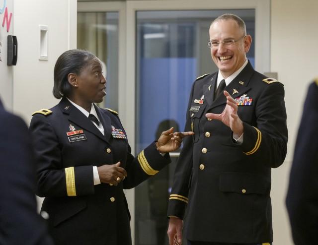 Brig. Gen. Crosland tours Oregon Health and Sciences University