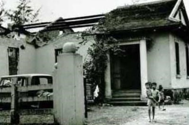 Following the Tet Offensive, not much remained of the house where members of AFVN Det. 5 held off the North Vietnamese in a 16-hour firefight.