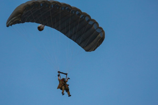 1st SFG(A) Green Berets drop into Yuma Proving Grounds