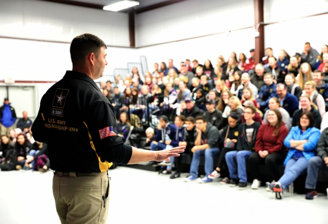 Two-time Olympic competitor gives junior marksmen tips on competing