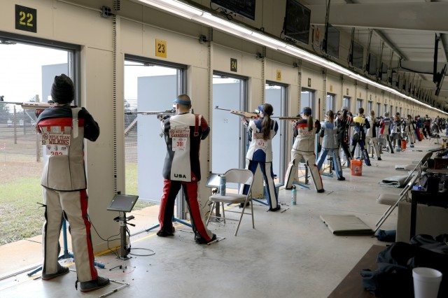 More than 150 of the top junior marksmen from across the U.S. compete in the U.S. Army Junior Rifle National Championships at Fort Benning, Ga. Jan. 24-26, 2019. The invitation-only event had the youth athletes compete side by side for top individual and team honors in three-position smallbore, sporter rifle and precision rifle.