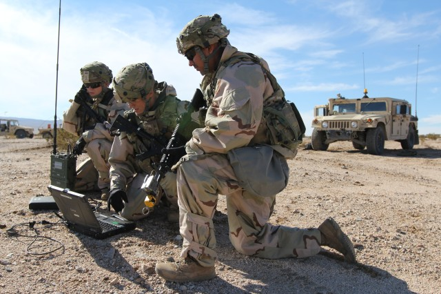 Cyber Soldiers support 3-1 CAV at NTC