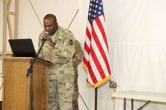 Signal Soldier graduates Camp Buehring Basic Leader Course